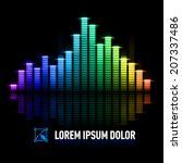 multicolored digital equalizer... | Shutterstock .eps vector #207337486