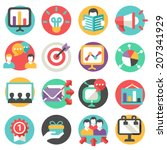 marketing icons   Shutterstock .eps vector #207341929