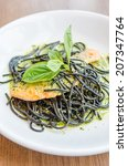 salmon black pasta | Shutterstock . vector #207347764
