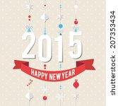 happy new year 2015. vector... | Shutterstock .eps vector #207353434