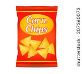 corn chips packet bag  isolated ... | Shutterstock . vector #207360073
