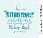retro elements for summer... | Shutterstock .eps vector #207360760