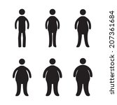 body types and obesity... | Shutterstock .eps vector #207361684