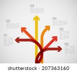 different way infographics  ... | Shutterstock .eps vector #207363160