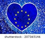 love eu flag european union... | Shutterstock . vector #207365146