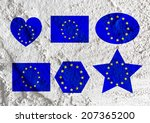love eu flag european union... | Shutterstock . vector #207365200