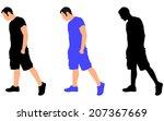 young man sad walking  vector | Shutterstock .eps vector #207367669
