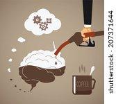vector concept of vigorous mind ... | Shutterstock .eps vector #207371644