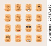 vector icon set of smiley faces ...