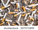 Cigarette Butts Discarded In...