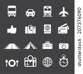 traveling and transport icons | Shutterstock .eps vector #207376090