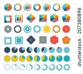 set of infographic diagram... | Shutterstock .eps vector #207380896