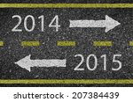 2015 new year road and asphalt... | Shutterstock .eps vector #207384439