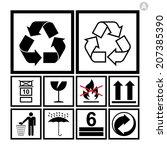 handling   packing icon set... | Shutterstock .eps vector #207385390