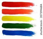 acrylic brush strokes.... | Shutterstock .eps vector #207394684
