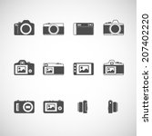 camera icon set  each icon is a ... | Shutterstock .eps vector #207402220