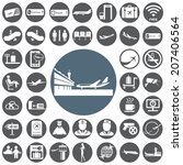 airport icons set | Shutterstock .eps vector #207406564