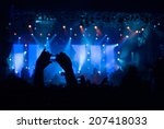 crowd taking photos of their... | Shutterstock . vector #207418033