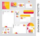 identity corporate set design... | Shutterstock .eps vector #207422770