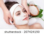 facial mask of caucasian young... | Shutterstock . vector #207424150