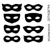Festive Masks Silhouette In...