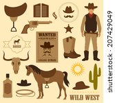 wild west icon  western wanted...   Shutterstock .eps vector #207429049