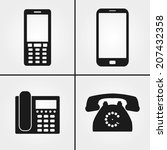 phone icons | Shutterstock .eps vector #207432358