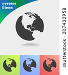 vector icon on colorful... | Shutterstock .eps vector #207432958