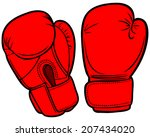 boxing gloves | Shutterstock .eps vector #207434020