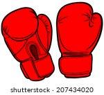 boxing gloves   Shutterstock .eps vector #207434020