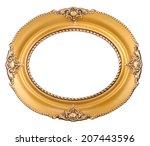 beautiful antique oval golden... | Shutterstock . vector #207443596