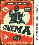 Grunge Retro Cinema Poster....