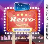 retro welcome 24 hours open... | Shutterstock .eps vector #207448450