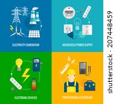 electricity energy concept flat ... | Shutterstock .eps vector #207448459