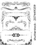 set of black dividers design | Shutterstock .eps vector #207449359