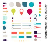 set of elements  markers ... | Shutterstock .eps vector #207450829