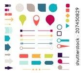 set of elements  markers ... | Shutterstock .eps vector #207450829