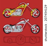 chopper motorcycles | Shutterstock .eps vector #207454129