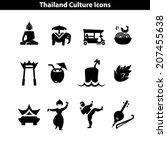 thai culture icon. attraction... | Shutterstock .eps vector #207455638