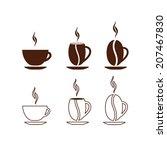 concept coffee cup vector | Shutterstock .eps vector #207467830