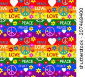 seamless pattern with symbols... | Shutterstock .eps vector #207468400
