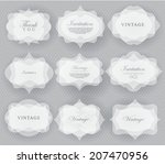 elegant transparent invitation... | Shutterstock .eps vector #207470956