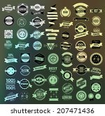 mega set of retro vintage... | Shutterstock .eps vector #207471436