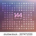universal modern icons for web... | Shutterstock .eps vector #207471520
