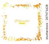 grunge splash watercolor frame  ... | Shutterstock .eps vector #207471628