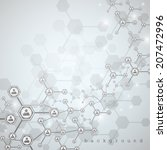 molecule and communication... | Shutterstock .eps vector #207472996