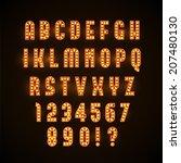 retro glowing font | Shutterstock .eps vector #207480130