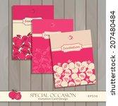 invitation card set design...   Shutterstock .eps vector #207480484