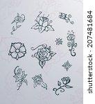 flowers | Shutterstock .eps vector #207481684