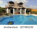 swimming pool at the modern...   Shutterstock . vector #207482230